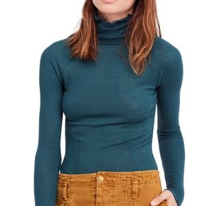 Free People Skyline Basic T-Shirt Thermal Top NWT